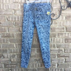 Kut From the Kloth Paisley Ankle Skinny Jean sz 4